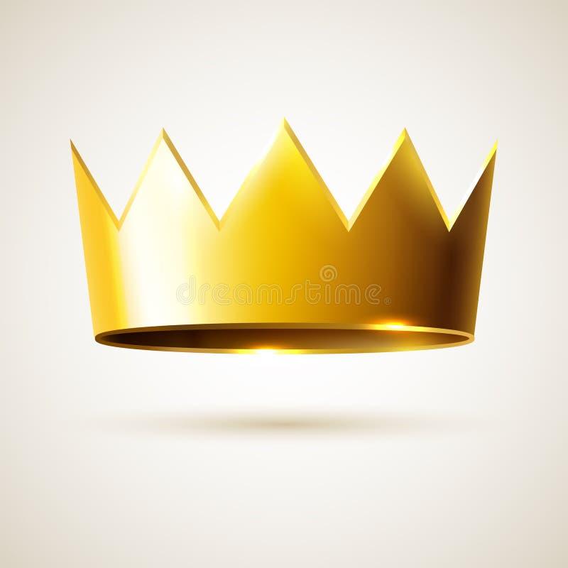 Corona dorata di re illustrazione vettoriale