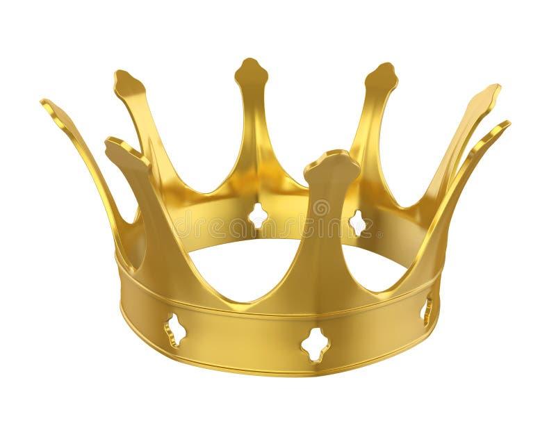 Corona dorata isolata illustrazione di stock