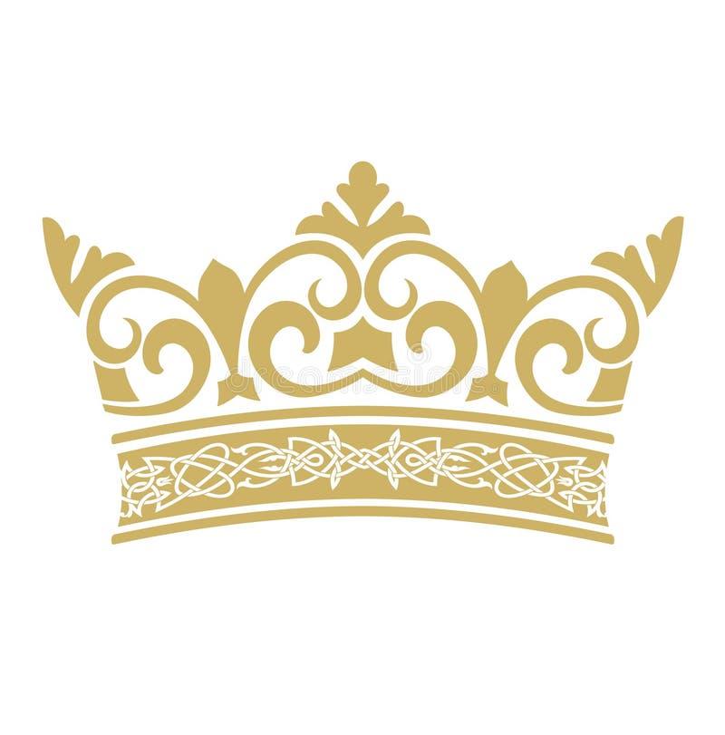 Corona dorata nei vettori illustrazione vettoriale