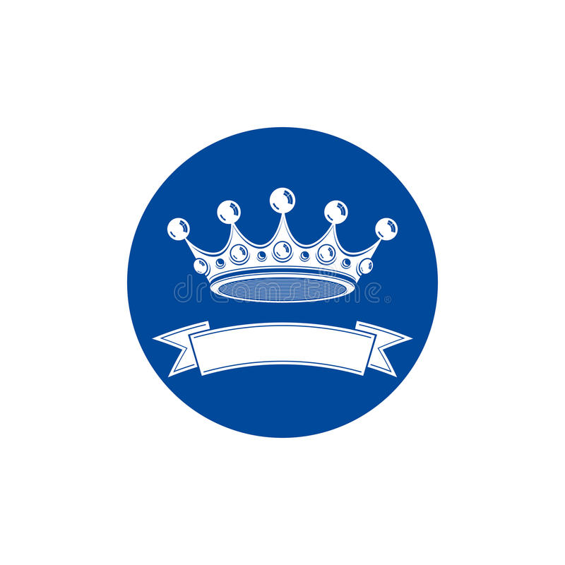 corona elegante del monarca 3d adornada con la cinta, símbolo de los derechos libre illustration