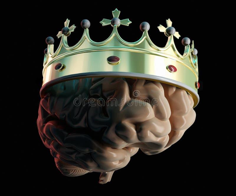 Corona en el cerebro ilustración del vector