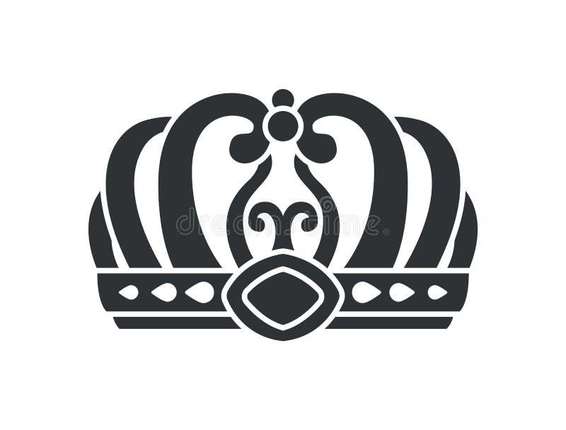 Corona en estilo futurista con diseño complicado libre illustration