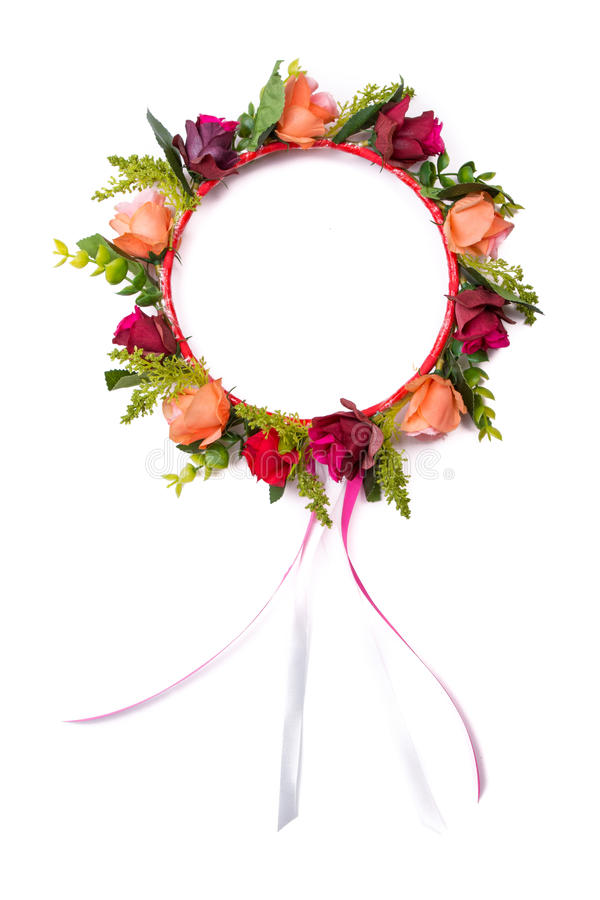 Corona falsa colorida de la flor imágenes de archivo libres de regalías