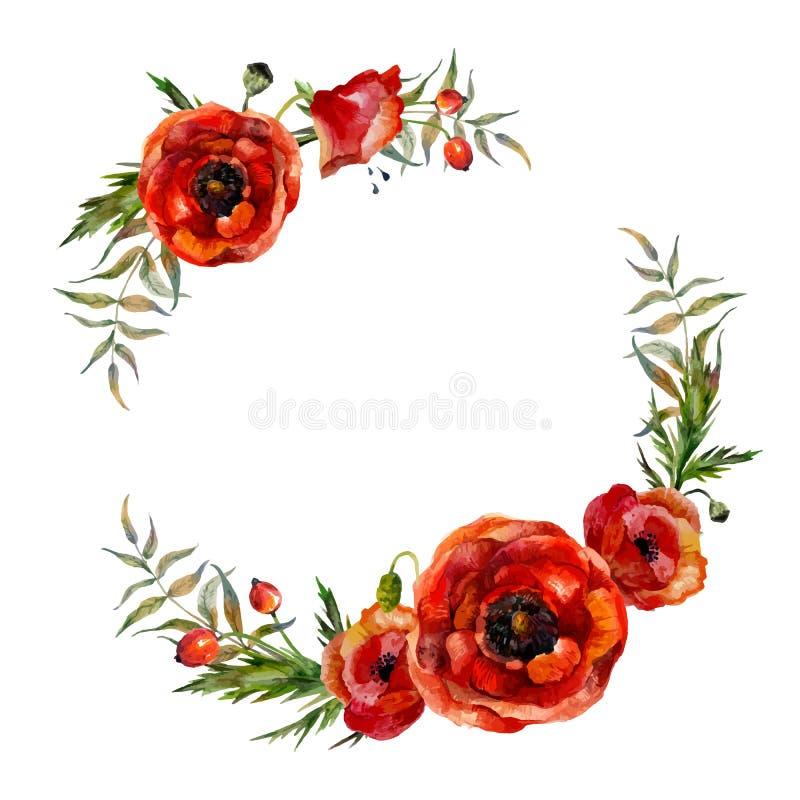 Corona floreale dell'acquerello royalty illustrazione gratis