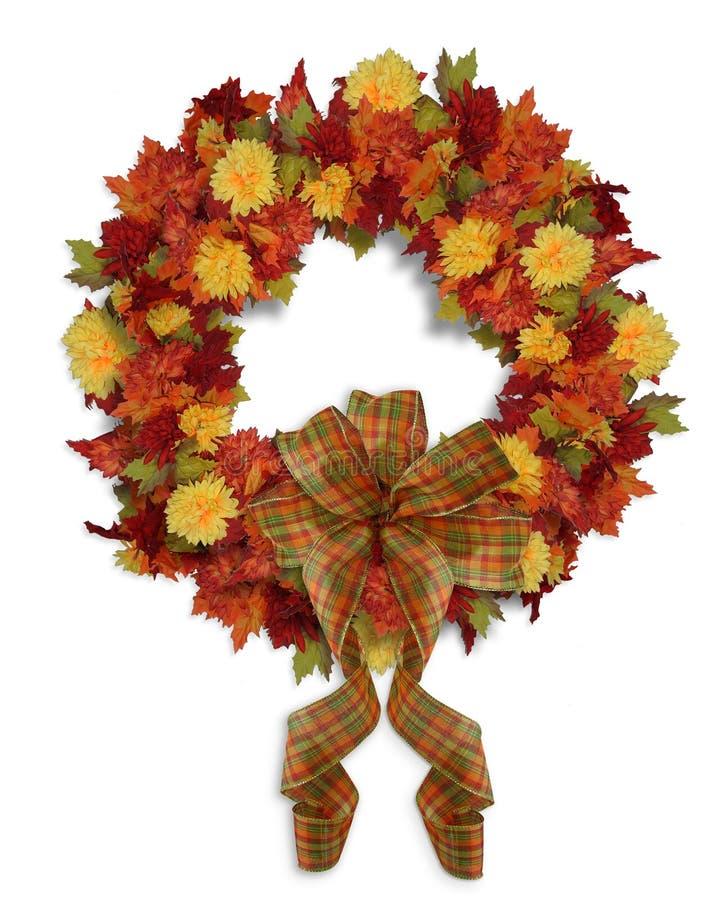 Corona floreale di caduta di autunno di ringraziamento illustrazione vettoriale