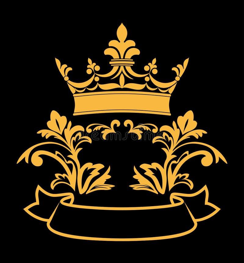 Corona heráldica stock de ilustración