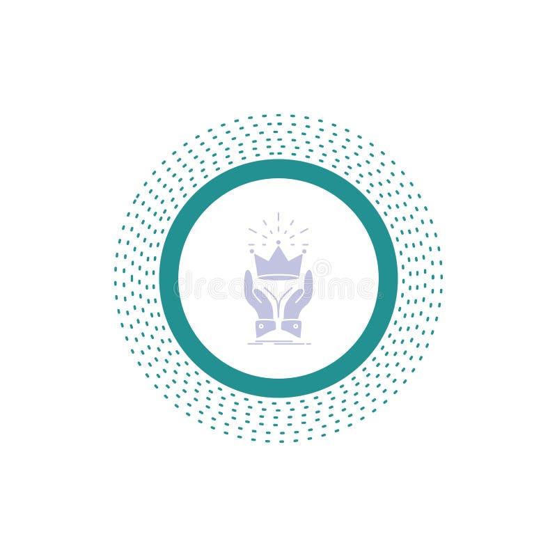 Corona, honor, rey, mercado, icono real del Glyph Ejemplo aislado vector ilustración del vector