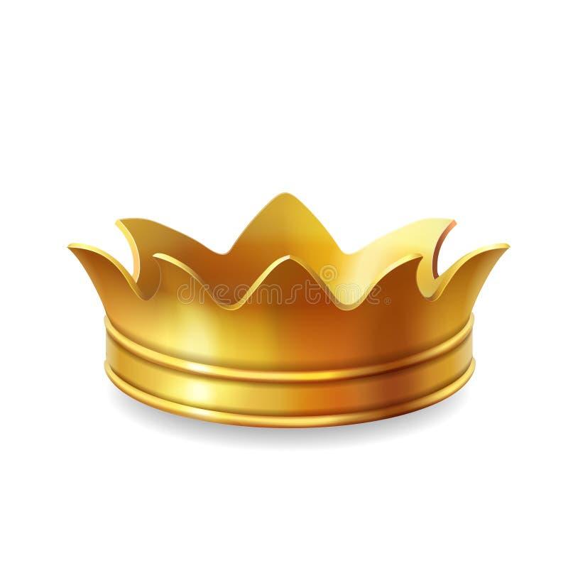 Corona isolata dell'oro, illustrazione di vettore royalty illustrazione gratis