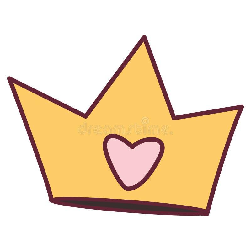 Corona linda de la reina con el corazón libre illustration