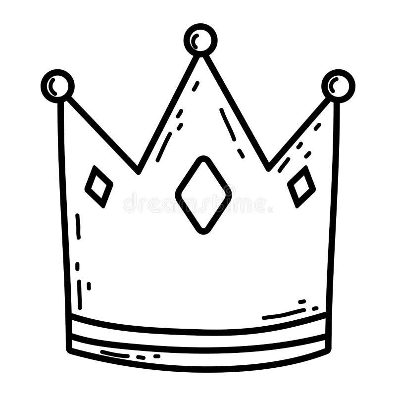 Corona linda de la reina con el corazón ilustración del vector