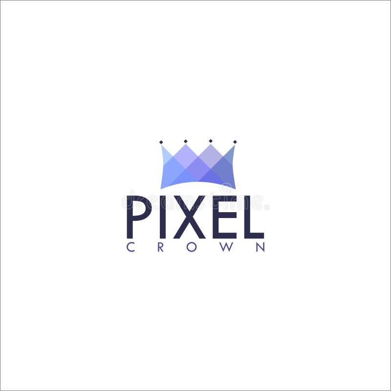 Corona Logo Design Vector del pixel libre illustration