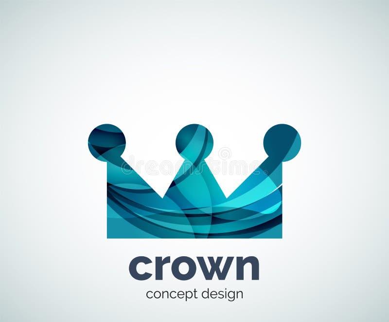 Corona Logo Template stock de ilustración