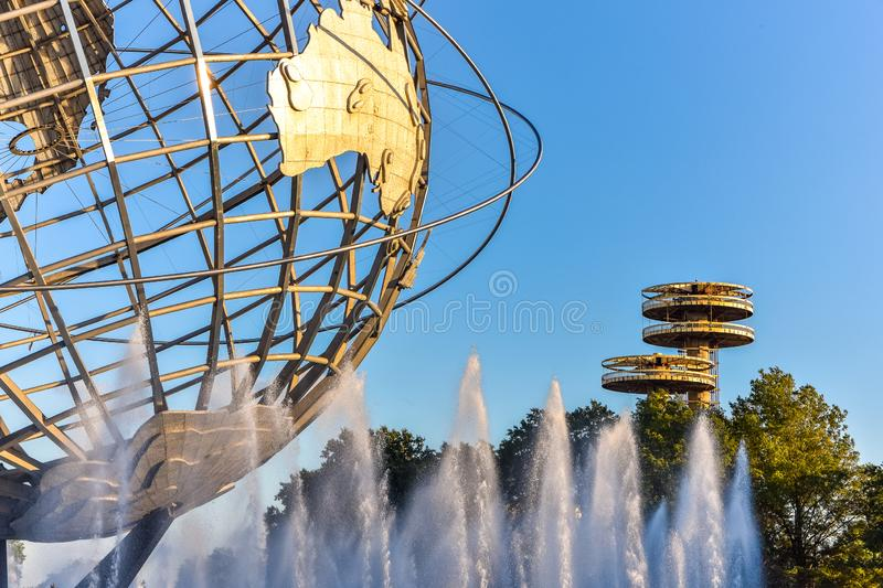 Corona park detail view. Travel and leisure concept. New York City. United States.  royalty free stock photo