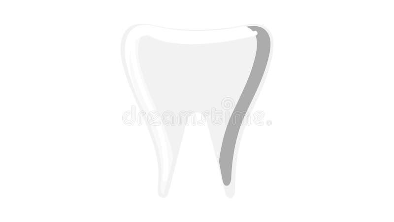 Corona primaria blanca médica hermosa del diente de leche stomatologic en un fondo blanco Ilustraci?n del vector libre illustration