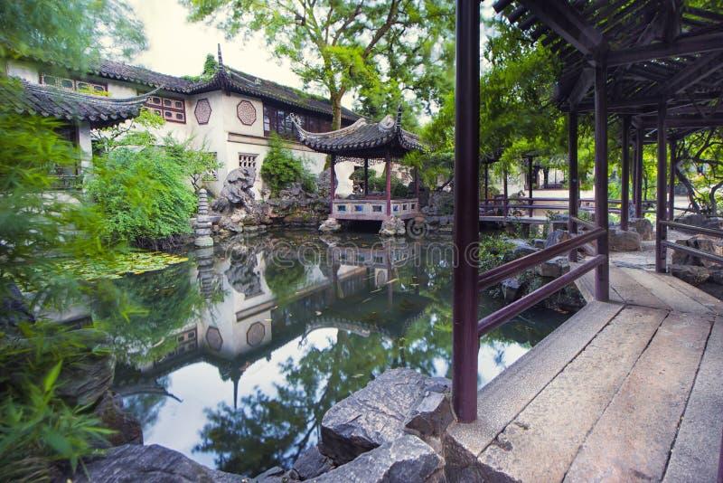 Corona prolungata Yunfeng di Suzhou del giardino fotografie stock