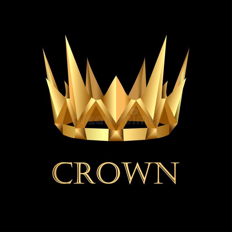 Corona royale d'or sur le fond noir illustration de vecteur