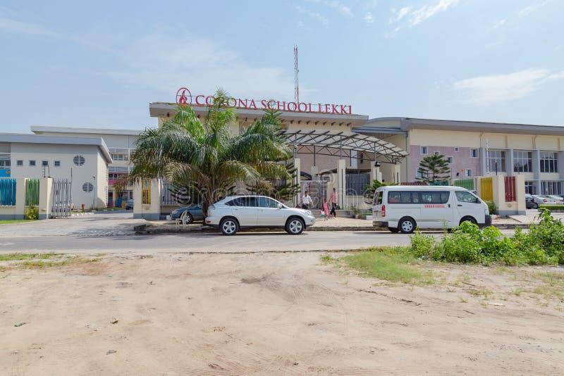 Corona School Lekki Lagos Nigeria lizenzfreies stockfoto
