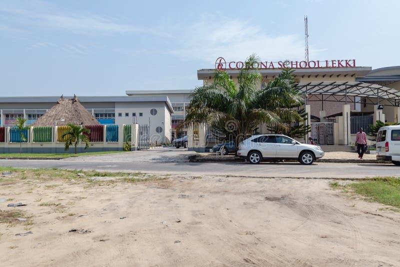 Corona School Lekki Lagos Nigeria arkivfoto