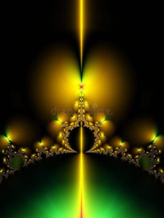 Corona simétrica del fractal del oro ilustración del vector