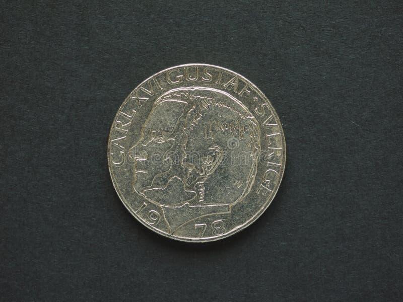 1 corona sueca y x28; SEK& x29; moneda foto de archivo libre de regalías