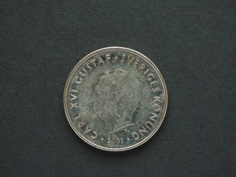 1 corona sueca y x28; SEK& x29; moneda foto de archivo