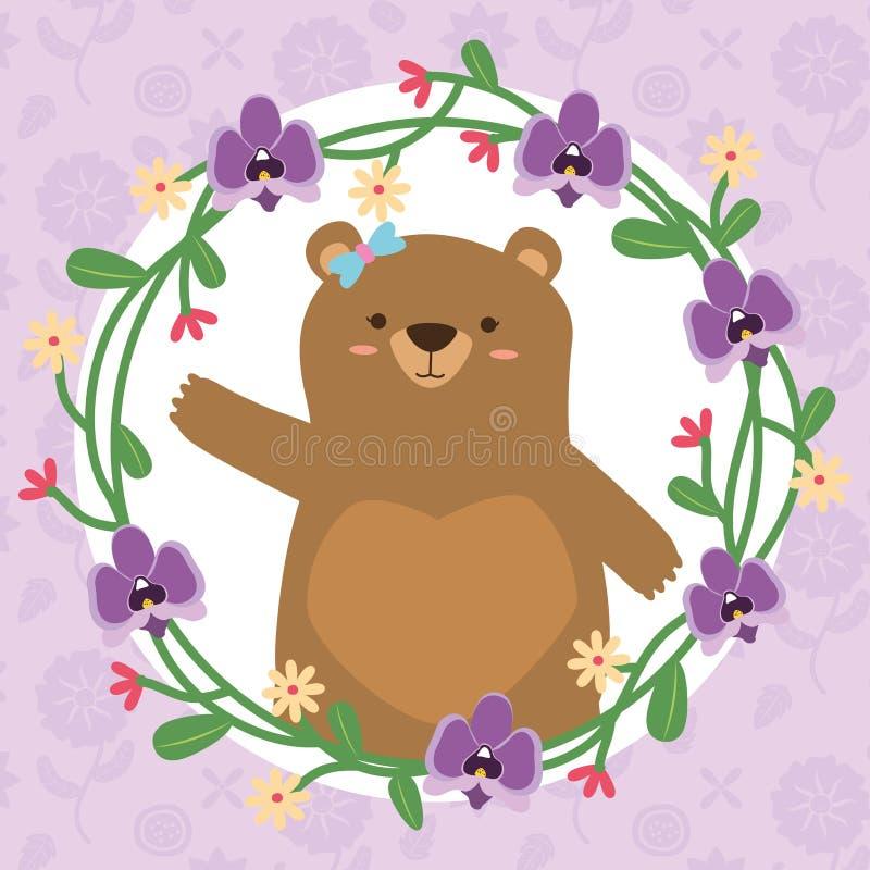 Corona sveglia dell'orso illustrazione di stock