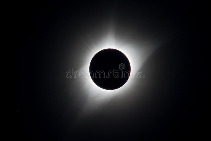 Corona Total Eclipse EUA 2017 fotografia de stock royalty free