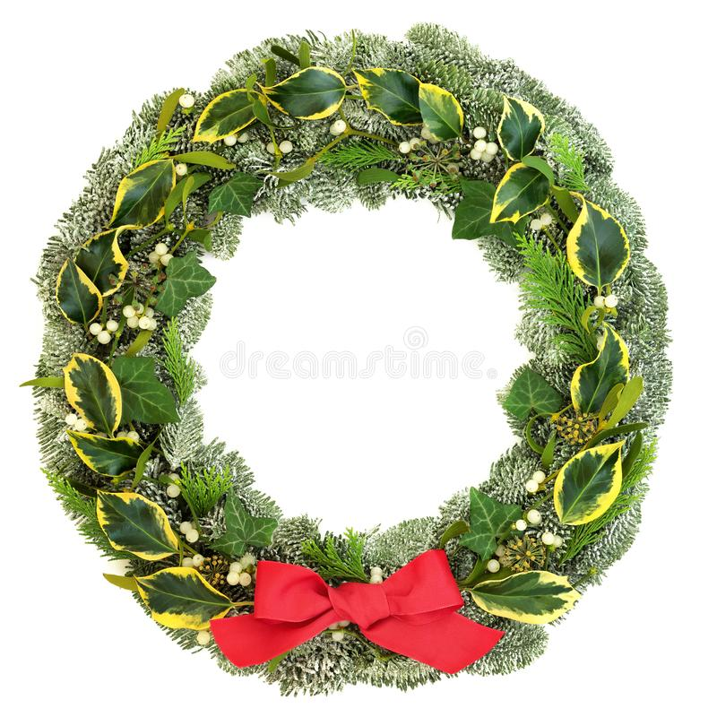 Corona tradizionale di Natale e di inverno fotografia stock