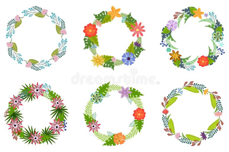 Corona tropicale dei fiori illustrazione di stock