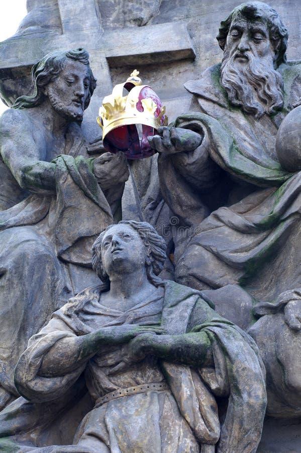Coronación de la Virgen Maria foto de archivo