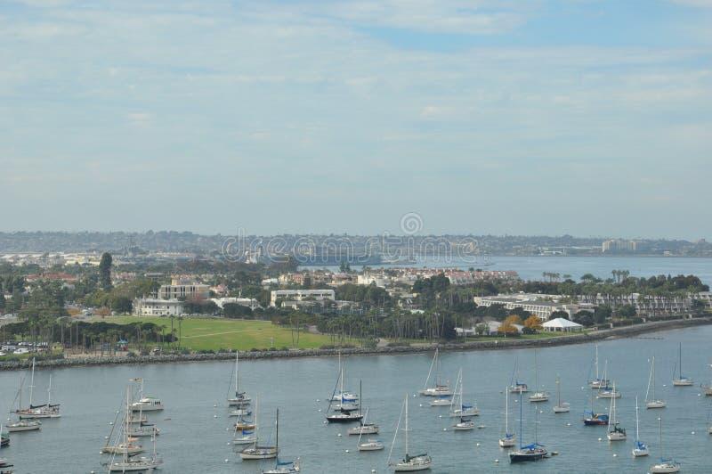 Coronado ö nära San Diego i Kalifornien royaltyfria foton