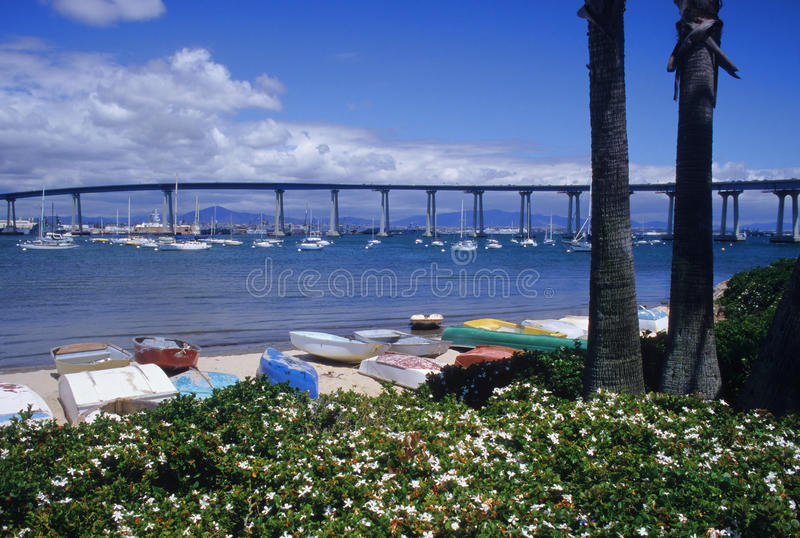 Coronado Bridge stock photography