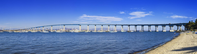 Coronado bridge stock images