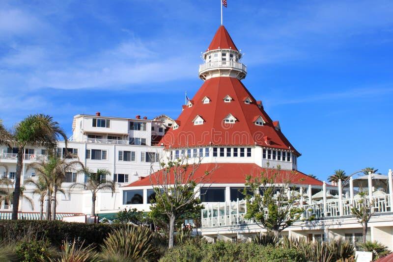 coronado del hotel στοκ εικόνες