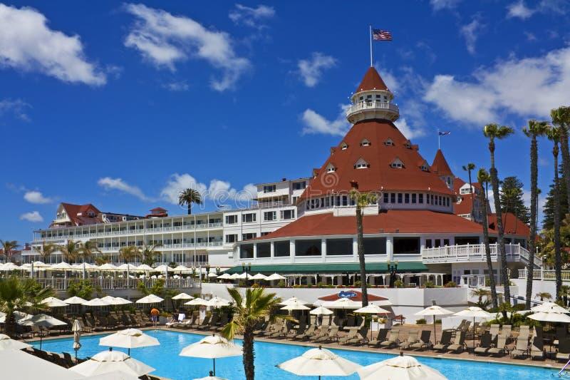 coronado del hotell pöl royaltyfria bilder