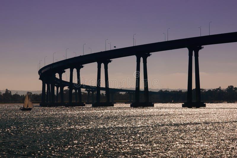 coronado Diego SAN γεφυρών στοκ εικόνα