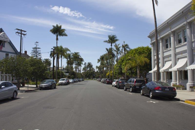 Coronado Island street in San Diego stock photography