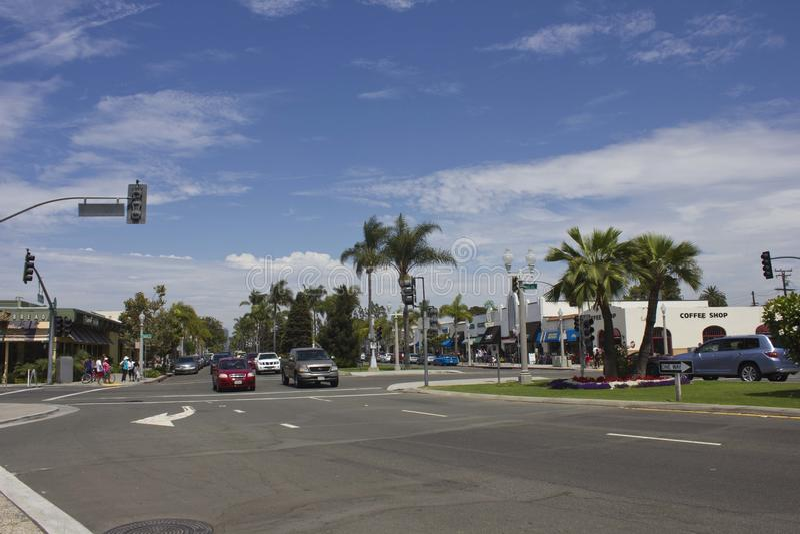 Coronado Island street in San Diego royalty free stock images