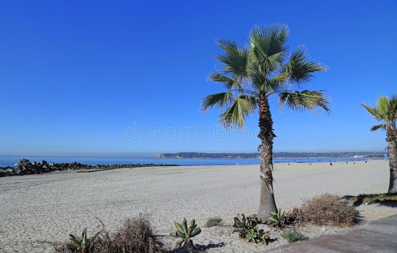 Coronado strand precis förutom San Diego, Kalifornien arkivfoto