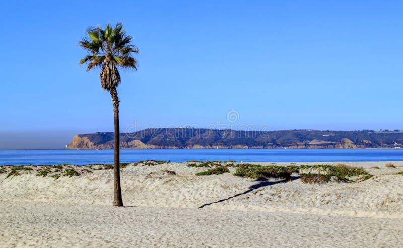 Coronado strand precis förutom San Diego, Kalifornien royaltyfri bild