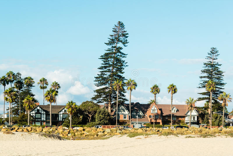 Coronado-Strand, San Diego stockbilder