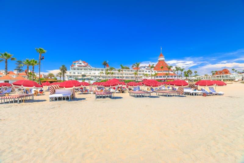 Coronado strand San Diego royaltyfria foton