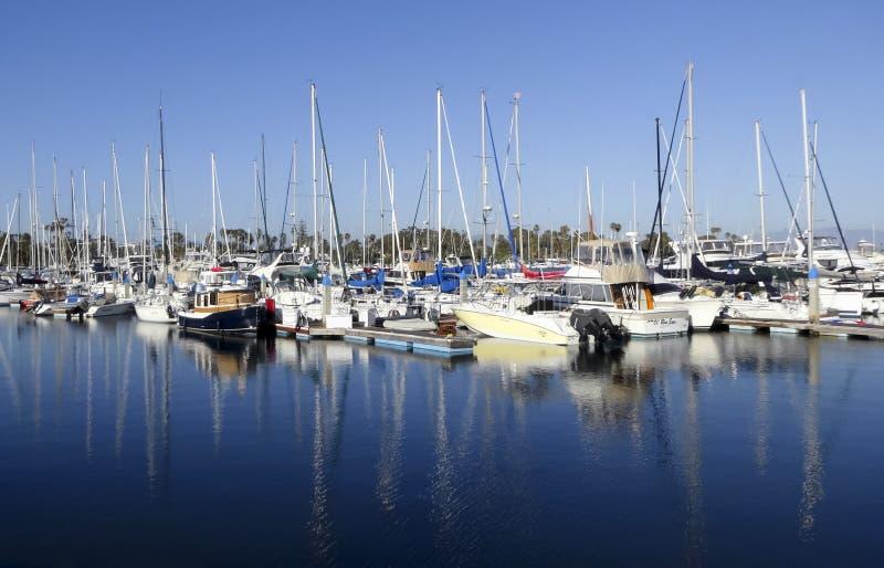 A Coronado Yacht Club Marina Scene, Coronado Island stock image