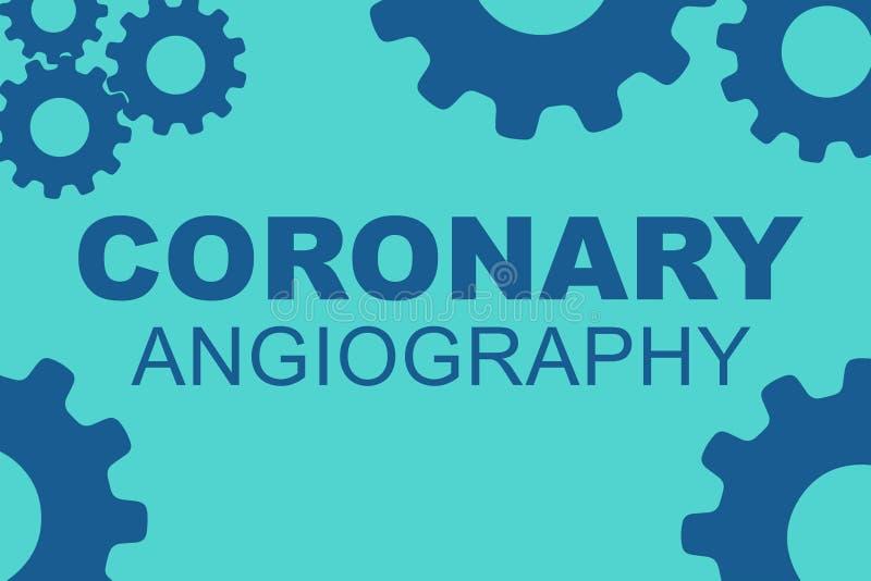 CORONAIR ANGIOGRAFIEconcept royalty-vrije illustratie