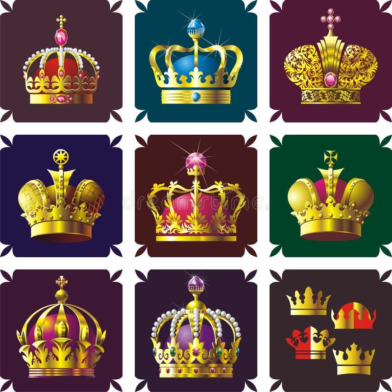 Coronas stock de ilustración