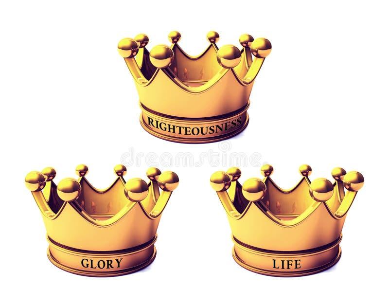 Coronas bíblicas stock de ilustración