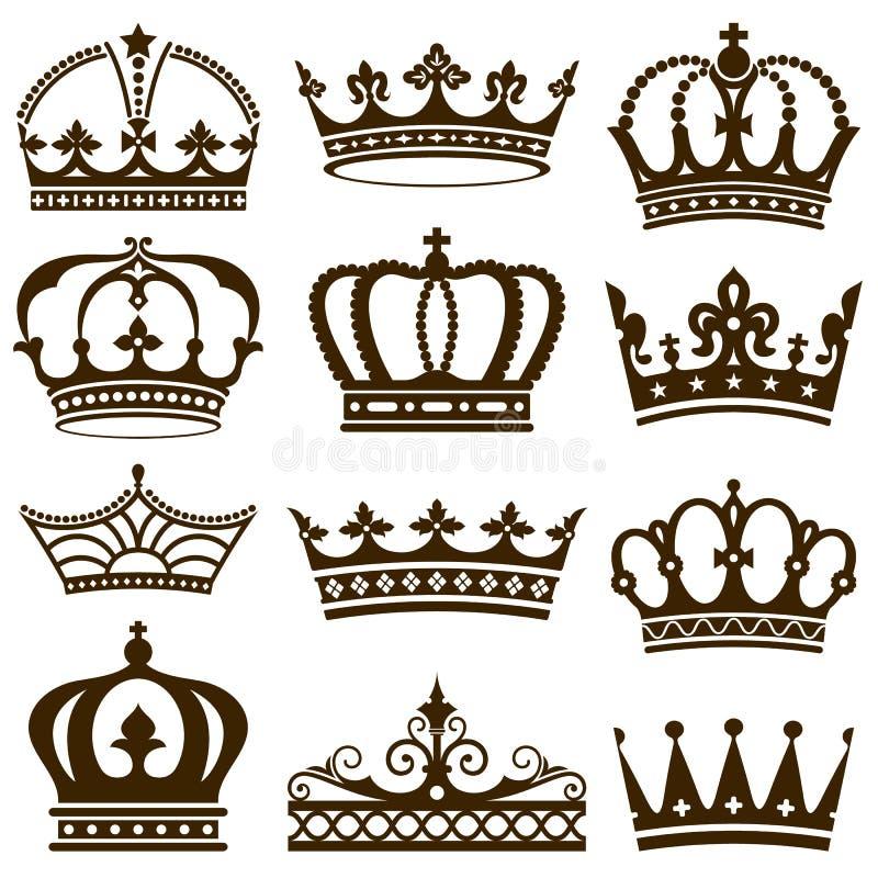 Coronas clásicas ilustración del vector