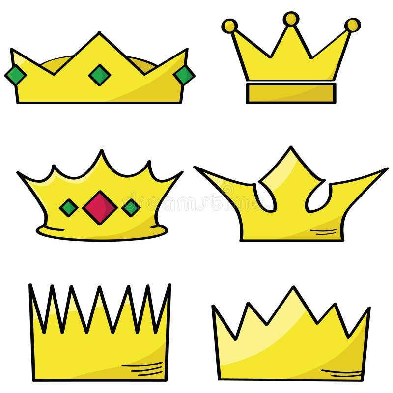 Coronas de la historieta libre illustration