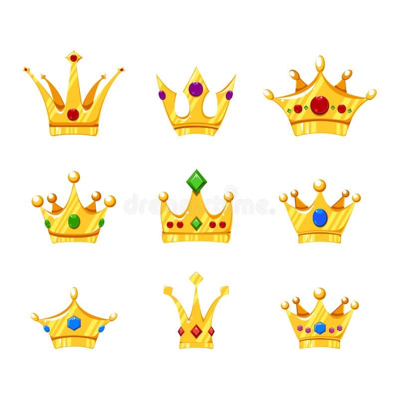 Coronas de la historieta fijadas para diverso dise?o libre illustration