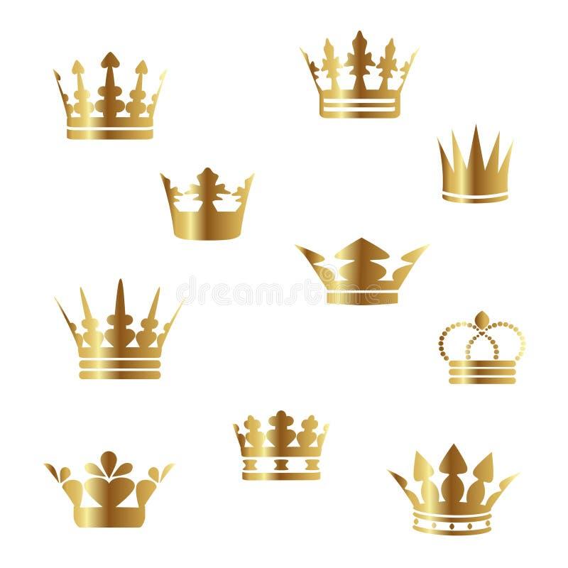 Coronas de oro del vector ilustración del vector